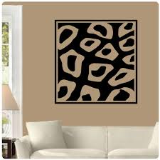 cheetah print wall decor home designs ideas