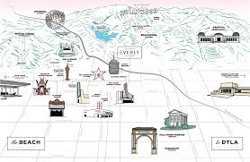 Griffith Park Map Hollywood Hotels Kimpton Everly Hotel