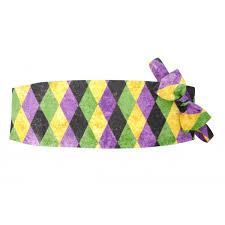 mardi gras bow mardi gras harlequin cummerbund and bow tie set