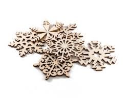 set of 27 wooden snowflakes wood ornaments wood