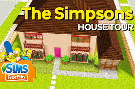 the sims freeplay the simpsons house youtube