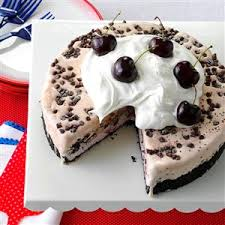 chocolate cherry ice cream cake recipe taste of home