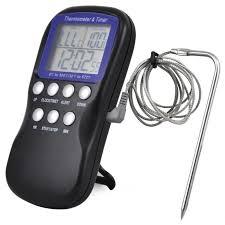 thermometre sonde cuisine trixes sonde alimentaire numérique thermomètre à four minuterie de