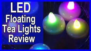 floating led tea lights led floating tea lights flameless candle review youtube