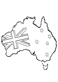 free printable kids colouring pages australian map