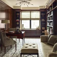 Transitional Office Furniture by Transitional Eclectic Cozy Home Office Photos