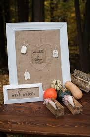 wedding wishes board handmade fall wedding ideas