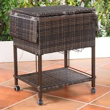 Patio Table Cooler by Portable Patio Cooler 80 Quart Brown Thepatiodepot Com Usa