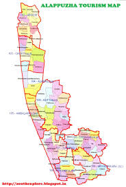 South India Map by Alappuzha Travel Map Alleppey Travel Map Tourist Places In