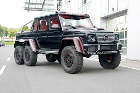 mercedes g class 6x6 brabus b63s 700 g63 amg 6x6 gets red carbon fiber accents