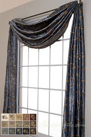 Blue Swag Curtains Belvedere Scarf Swag Window Topper In 14 Colors