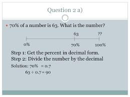 percent to decimal unit 5 percent ratio and rate ppt
