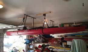 kayak and canoe hoist boat storage rack storeyourboard com