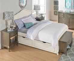 kensington white finish charlotte full size panel bed with trundle