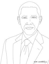 of barack obama coloring page free download