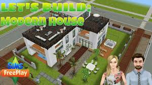 the sims freeplay let u0027s build modern house youtube