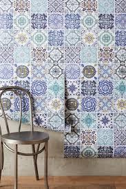raised mosaic tile wallpaper