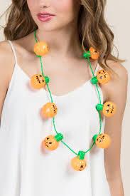 pumpkin light up necklace s