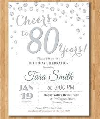 birthday invites awesome 80th birthday invitations designs new