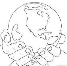 earth printable coloring kids 4 green