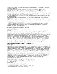 Cnc Machine Operator Resume Sample by Cnc Router Operator Resume Contegri Com