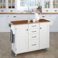 Possum Belly Kitchen Cabinet by Linon Home Decor Sheridan White Kitchen Cart With Towel Bar