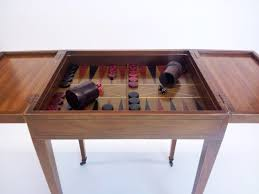 baker furniture game table vintage 1940 s baker backgammon checkers table inlaid style w