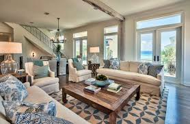 Blue And White Decorating 19 Coastal Themed Living Room Designs Decorating Ideas