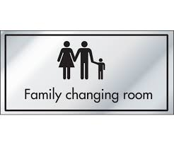 ID Family Changing Room Information Door Sign - Family changing room