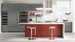 Red Kitchens With White Cabinets Grey Red Kitchen Interiors Design