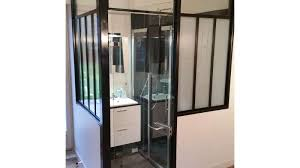 salle d eau dans chambre salle de bain avec verrière vitré 35 h2a