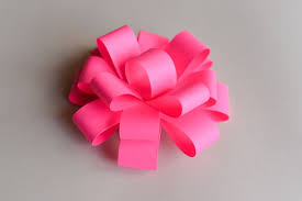 flower bow how to make easy paper bow step by step papierowa kokarda