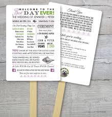 diy wedding program fans kits wedding program fan wedding fan best day order of