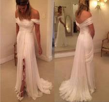 handmade wedding dresses chiffon portrait shoulder handmade wedding dresses ebay