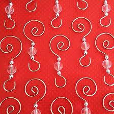 swirled bead photo ornament hooks 12 beaded hangers