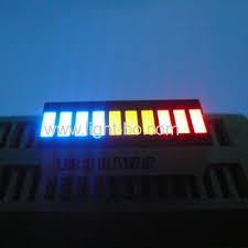 multi color led light bar pure green 10 segment led bar for instrument panel manufacturer