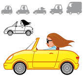 cartoon convertible car cartoon convertible car stock illustrations royalty free gograph