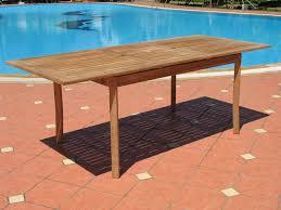 Teak Furniture Patio Santorini Premium Teak Extendable Patio Dining Table Lazy Susan
