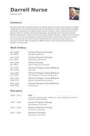physical therapist resume physical therapist resume sles visualcv resume sles database