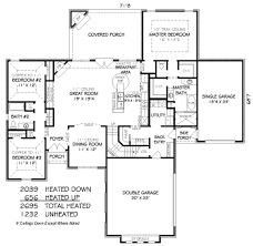 Side Garage Floor Plans by European Style House Plan 4 Beds 3 00 Baths 2695 Sq Ft Plan 424 250