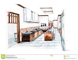 Kitchen Design Sketch 20 Thai Kitchen Design Food Sketch Royalty Free Stock