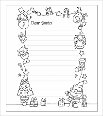 Letter To Santa Template Printable Black And White | best photos of printable santa letter templates free printable with