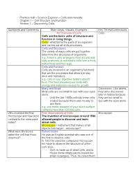 Prentice Hall Inc Science Worksheet Answers Chapter 1 Section 1 Notes Carbohydrates Cell Nucleus