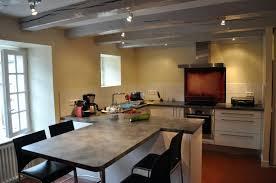 ilot cuisine table ilot de cuisine avec table central et idee c 07360807 lzzy co