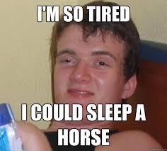 I M So Tired Meme - i m so tired i could sleep a horse 10 guy quickmeme