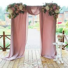 wedding arch no flowers wedding ceremony drapery with floral arbor the dusky pink