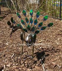 metal rock rocking peacock yard garden ornament mtpcs003 camino