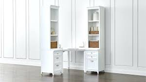 white wood desk with drawers harrison 3 piece white corner desk filing suite crate and barrel