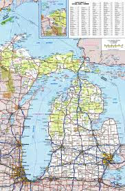 Map Of Michigan And Canada by Detailed Map Of Michigan Michigan Map