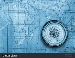 Old Map Background Royalty Free Compass On Old Map Blue Tone Background 45778516